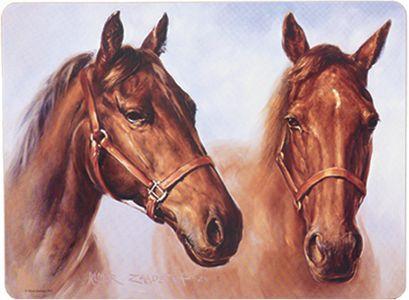 PODKŁADKI KORKOWE NA STÓŁ ASHDENE Konie - MAŁE