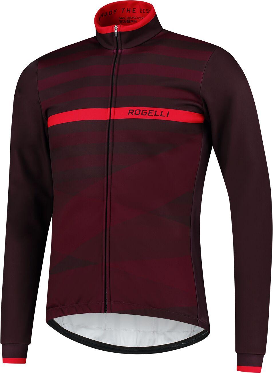 ROGELLI kurtka rowerowa zimowa STRIPE claret ROG351042 Rozmiar: 2XL,SROG351042.S
