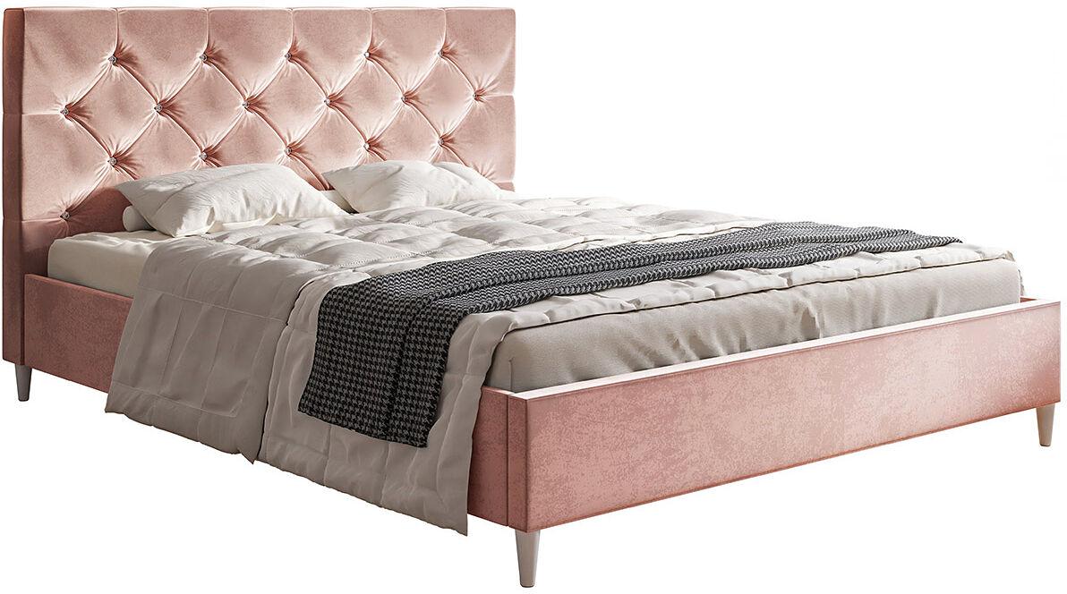 Tapicerowane łóżko z zagłówkiem 120x200 Colette - 48 kolorów