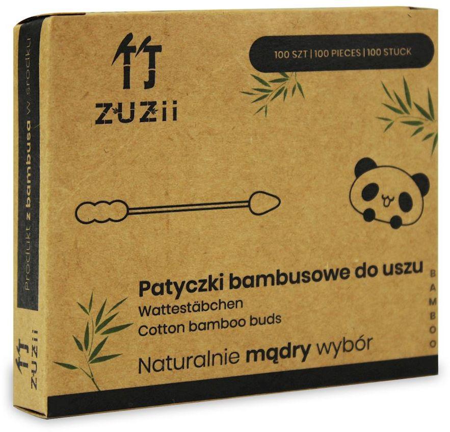 Patyczki higieniczne bambusowe z bawełną bałwanek-szpic 100 szt - zuzii