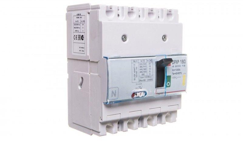 Wyłącznik mocy 125A 4P 16kA DPX3 160 420016