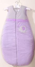 MAMO-TATO Śpiworek niemowlęcy do 18 m-ca haftowany Słonik fioletowy
