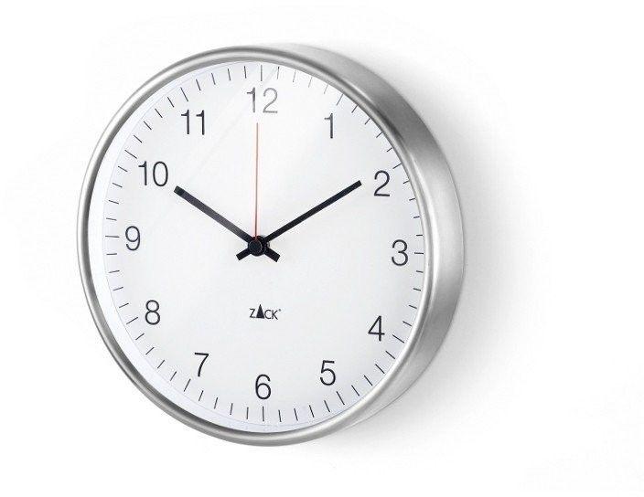 Zack - zegar ścienny palla - biały ø 24 cm - 24,00 cm