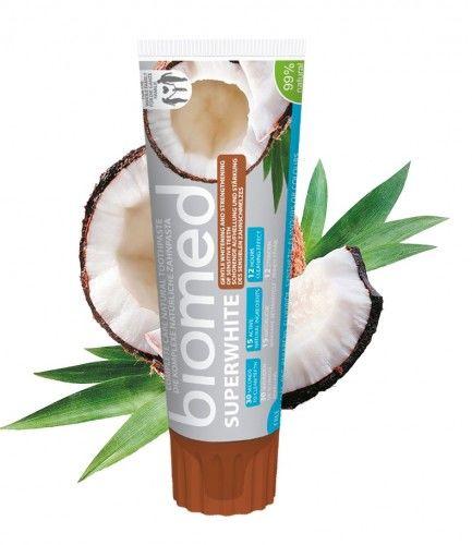 BIOMED Superwhite 100 g - wybielająca pasta do zębów wzmocnienia i remineralizuje szkliwo