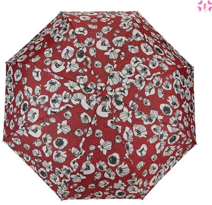 Parasolka damska Blue Drop A567 Kwiaty Red