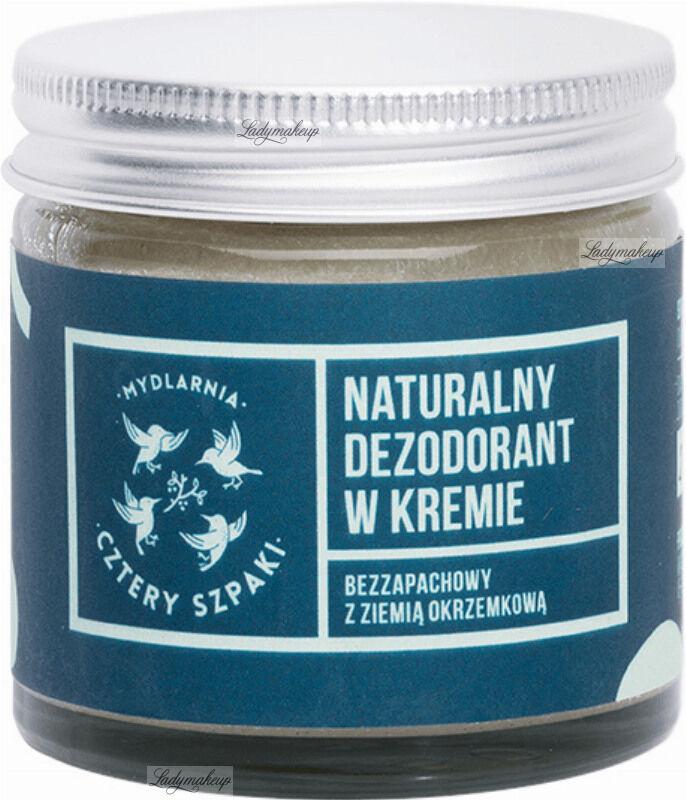 Mydlarnia Cztery Szpaki - Naturalny, bezzapachowy dezodorant w kremie - 60 ml
