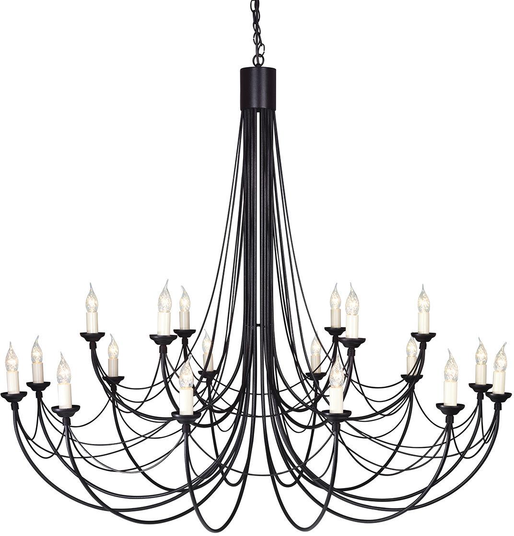 Żyrandol Carisbrooke CB18 BLK Elstead Lighting czarna oprawa w dekoracyjnym stylu