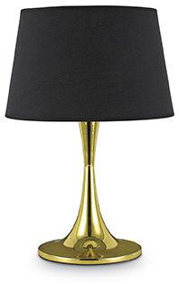 Lampa stołowa London TL1 Big 110479 Ideal Lux czarno-mosiężna oprawa w nowoczesnym stylu