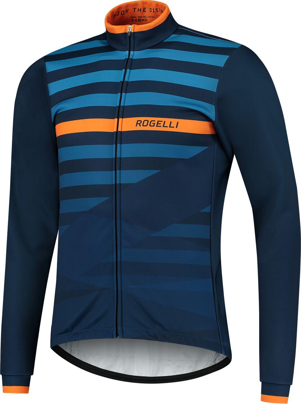 ROGELLI kurtka rowerowa zimowa STRIPE blue ROG351041 Rozmiar: M,SROG351041.S