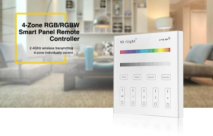 MILIGHT - 4-Zone RGB/RGBW Smart Panel Remote Controller - T3
