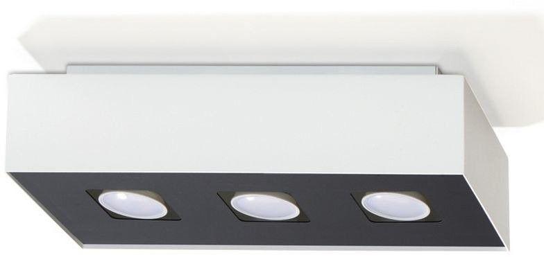 Sollux - plafon mono 3 - biały
