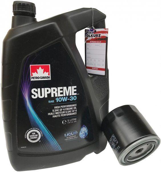 Filtr + olej SUPREME 10W30 Chrysler Sebring V6