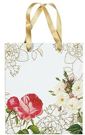 Talking Tables Blossom & Brogues Glassine Kwiatowa torba na prezent, mikrofibra, wielokolorowa, 20,91 x 1,82 x 24,55 cm