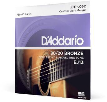 DAddario EJ-13 struny do gitary akustycznej 80/20 Bronze 11-52