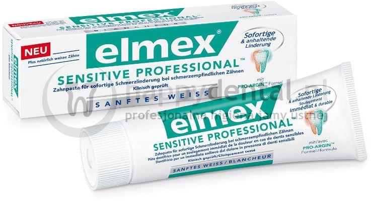ELMEX Sensitive PROFESSIONAL 75ml - pasta do zębów zapewniająca natychmiastową ulgę w nadwrażliwości