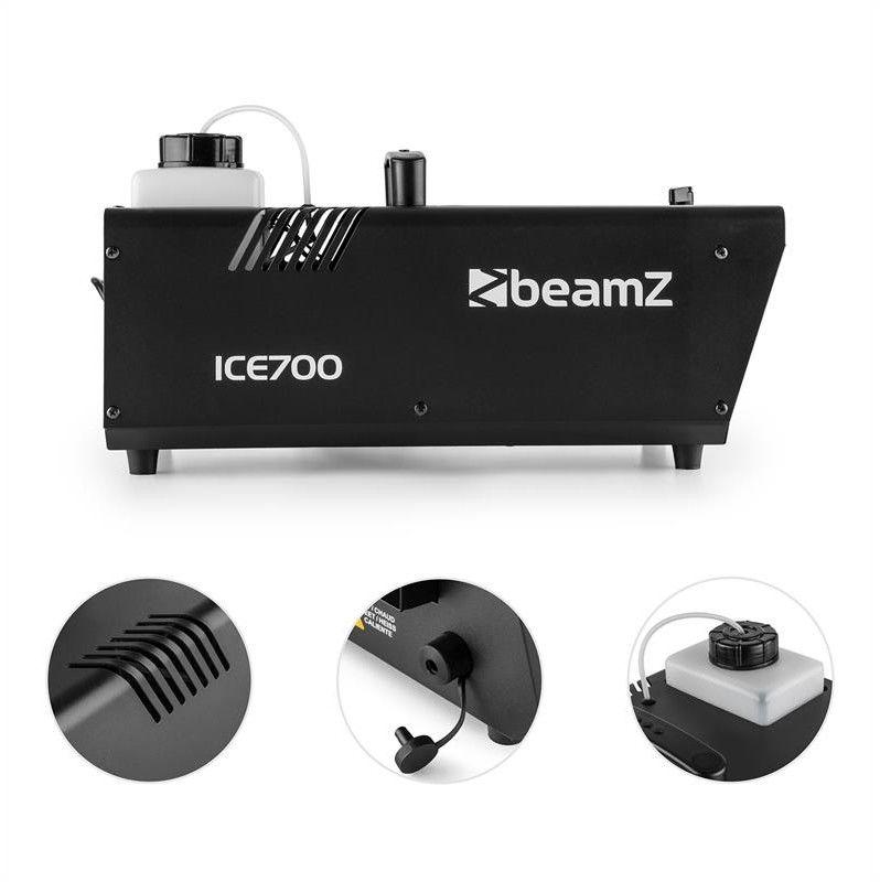 Beamz ICE700 Wytwornica lodowej mgły podłogowa 700Wzbiornik 1200ml czarna