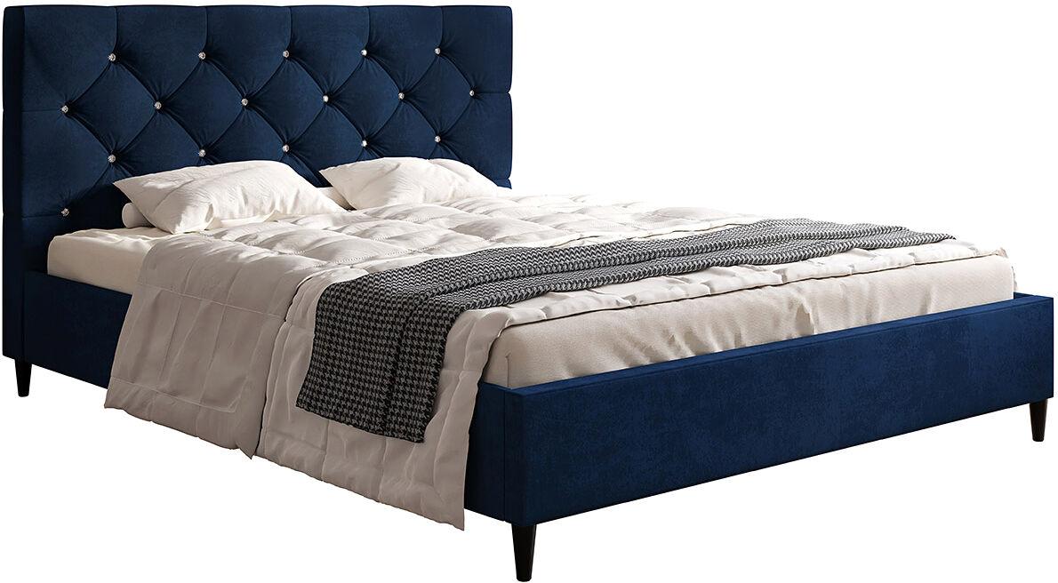 Małżeńskie łóżko z zagłówkiem 160x200 Colette - 48 kolorów