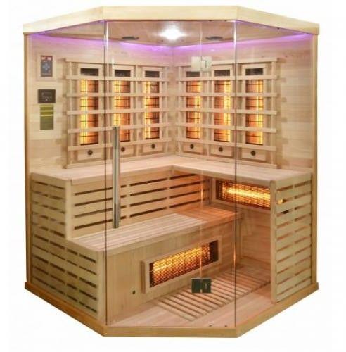 DELUXE Sauna na podczerwień 3-4 osobowa 150x150 cm J21150