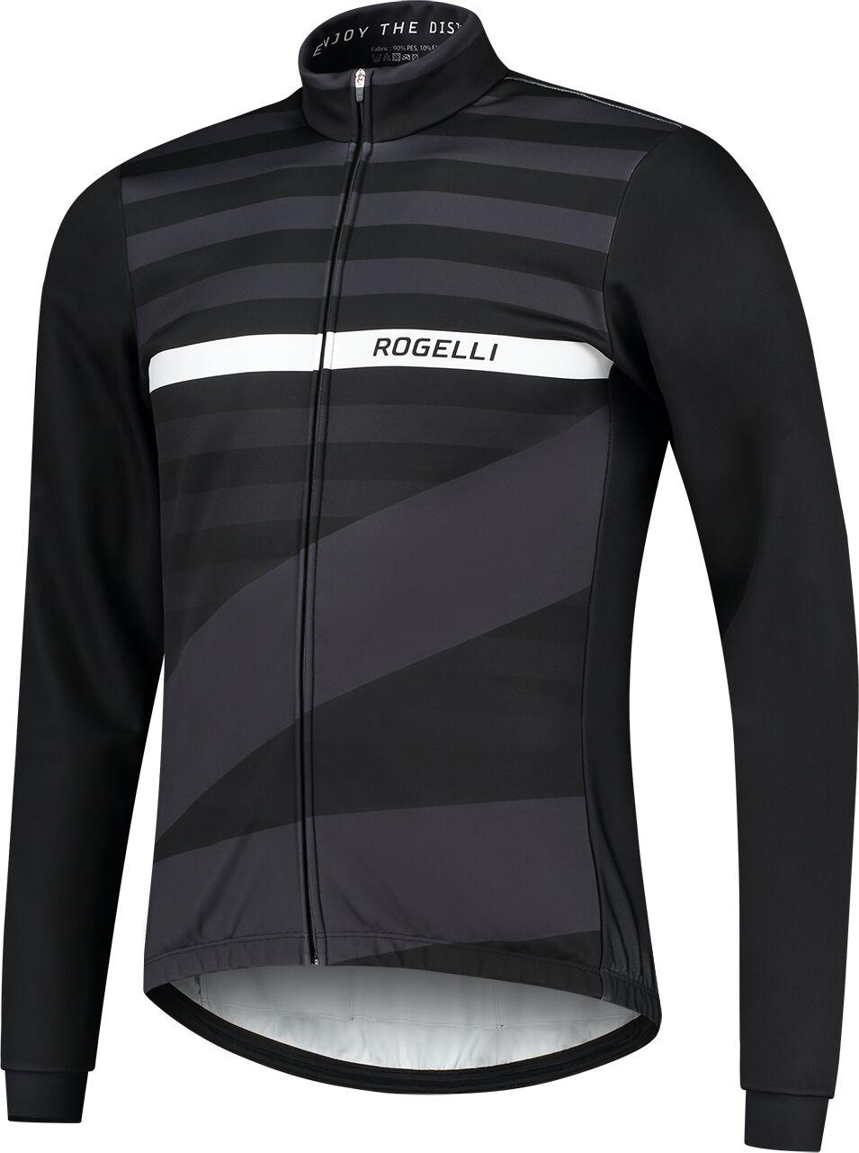 ROGELLI kurtka rowerowa zimowa STRIPE black ROG351039 Rozmiar: S,SROG351039.S