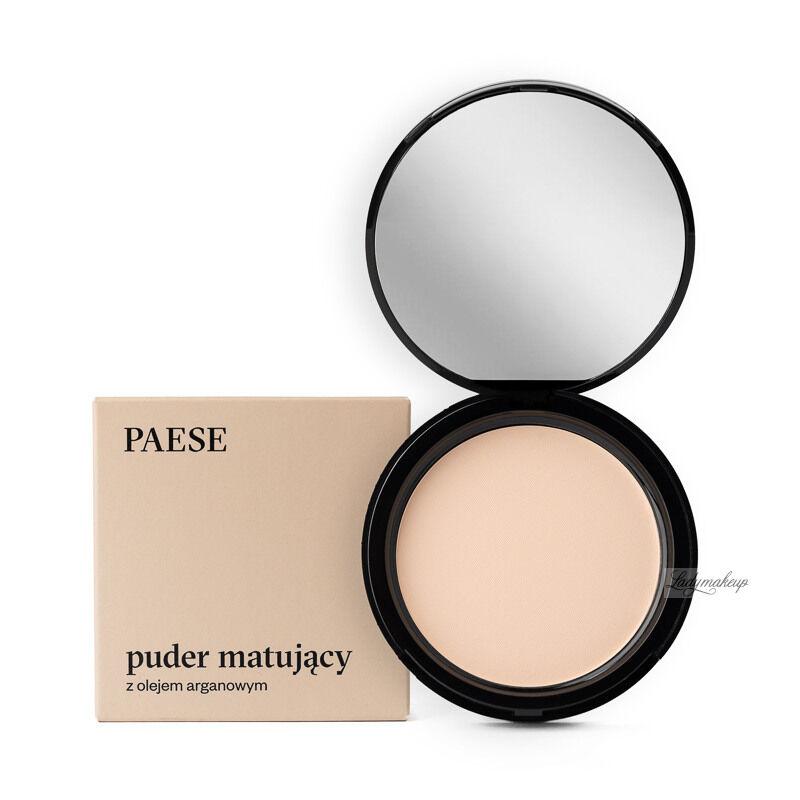 PAESE - Puder matujący z dodatkiem oleju arganowego - 1