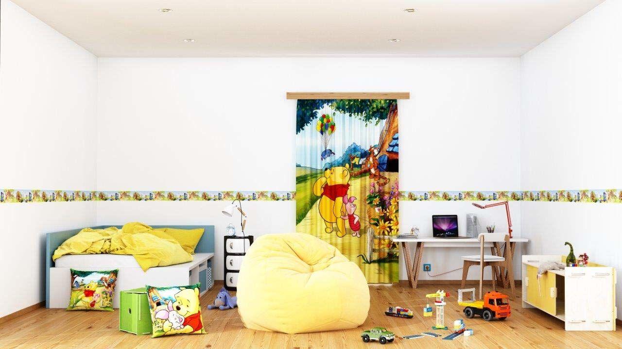 AG Design Disney Winnie Puuh naklejki ścienne, folia samoprzylepna, wielokolorowa, 500 x 14 cm