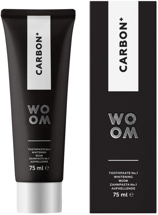 WOOM CARBON + - czarna pasta wybielająca zęby z aktywnym węglem 75ml