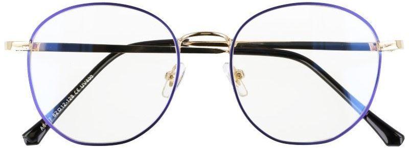 Okulary lenonki owalne z filtrem BLUE LIGHT do komputera zerówki 2538-3