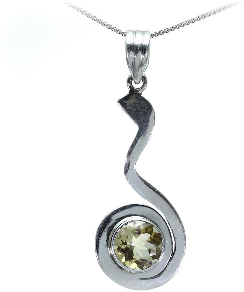 Kuźnia Srebra - Zawieszka srebrna, 52mm, Cytrynowy Kwarc, 5g, model