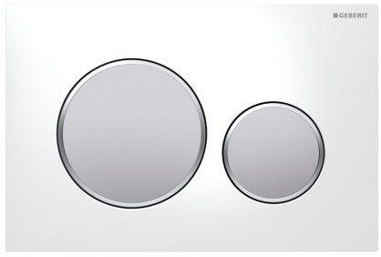 Sigma20 Geberit przycisk uruchamiający przedni do spłuczek podtynkowych UP320 biały/chrom matowy/chrom matowy - 115.882.KL.1
