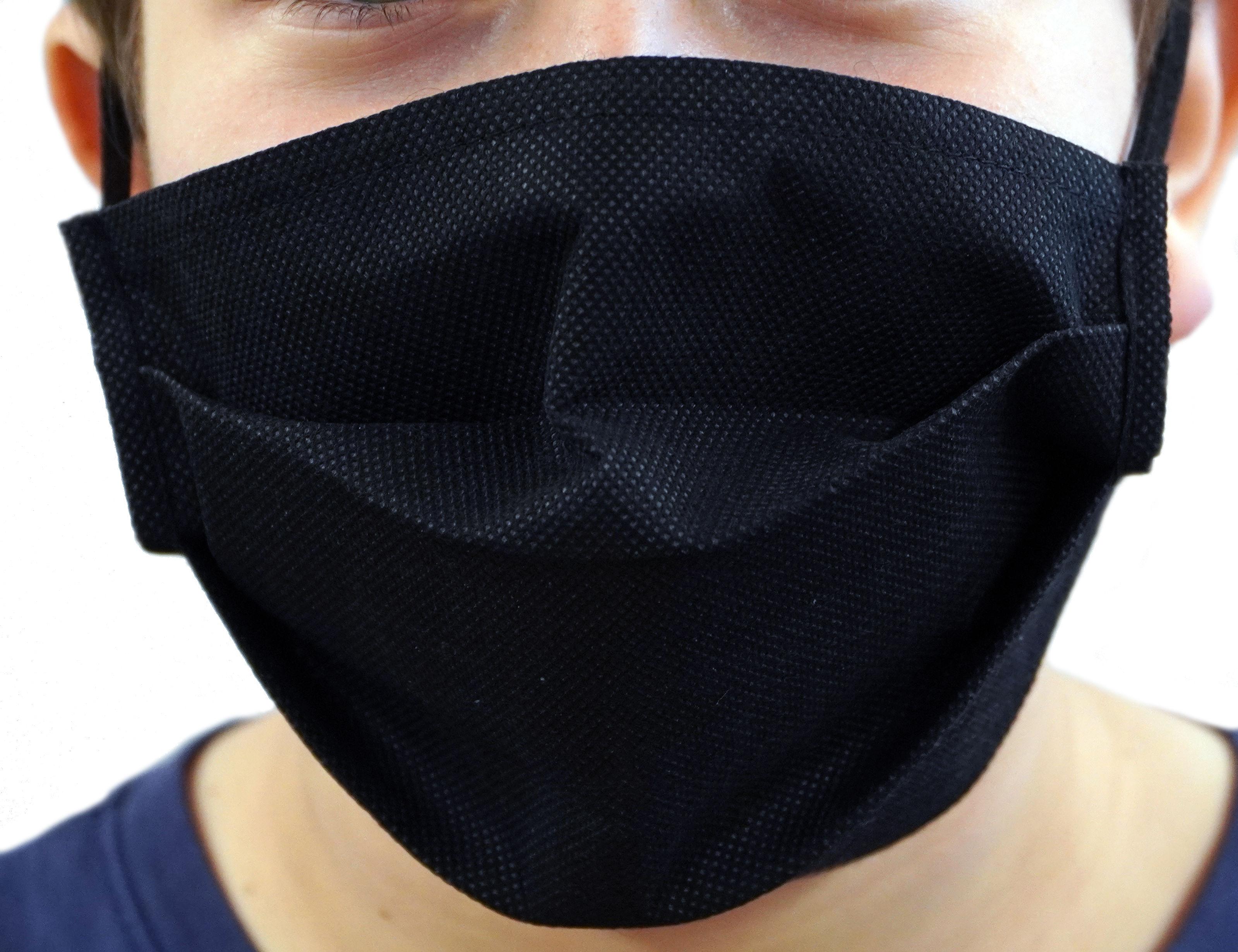 Maseczka wielorazowa ochrona na twarz czarna