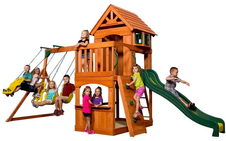 Ogromny Drewniany Plac zabaw Atlantic Backyard Discovery + Stolik gratis! LK
