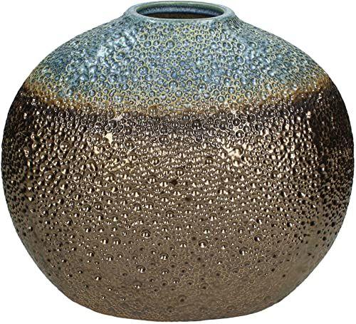Wazon - ceramika - brąz - 19,5x33,5x27cm