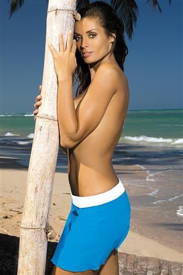 Spodniczka Meg Surf-Bianco M-266 Niebiesko-bialy (305)