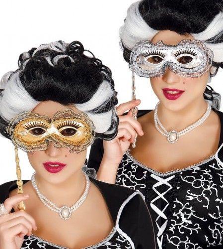 Maska karnawałowa z rączką, barokowa