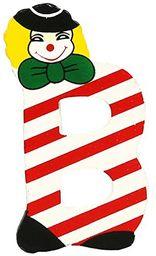 Bino 82584 litera B-z klaunem, wielokolorowa
