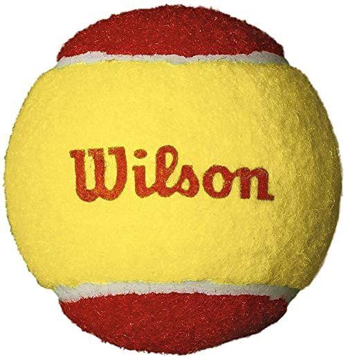 Wilson Piłki tenisowe Starter Red dla dzieci, żółte/czerwone, 12 sztuk, WRT137100