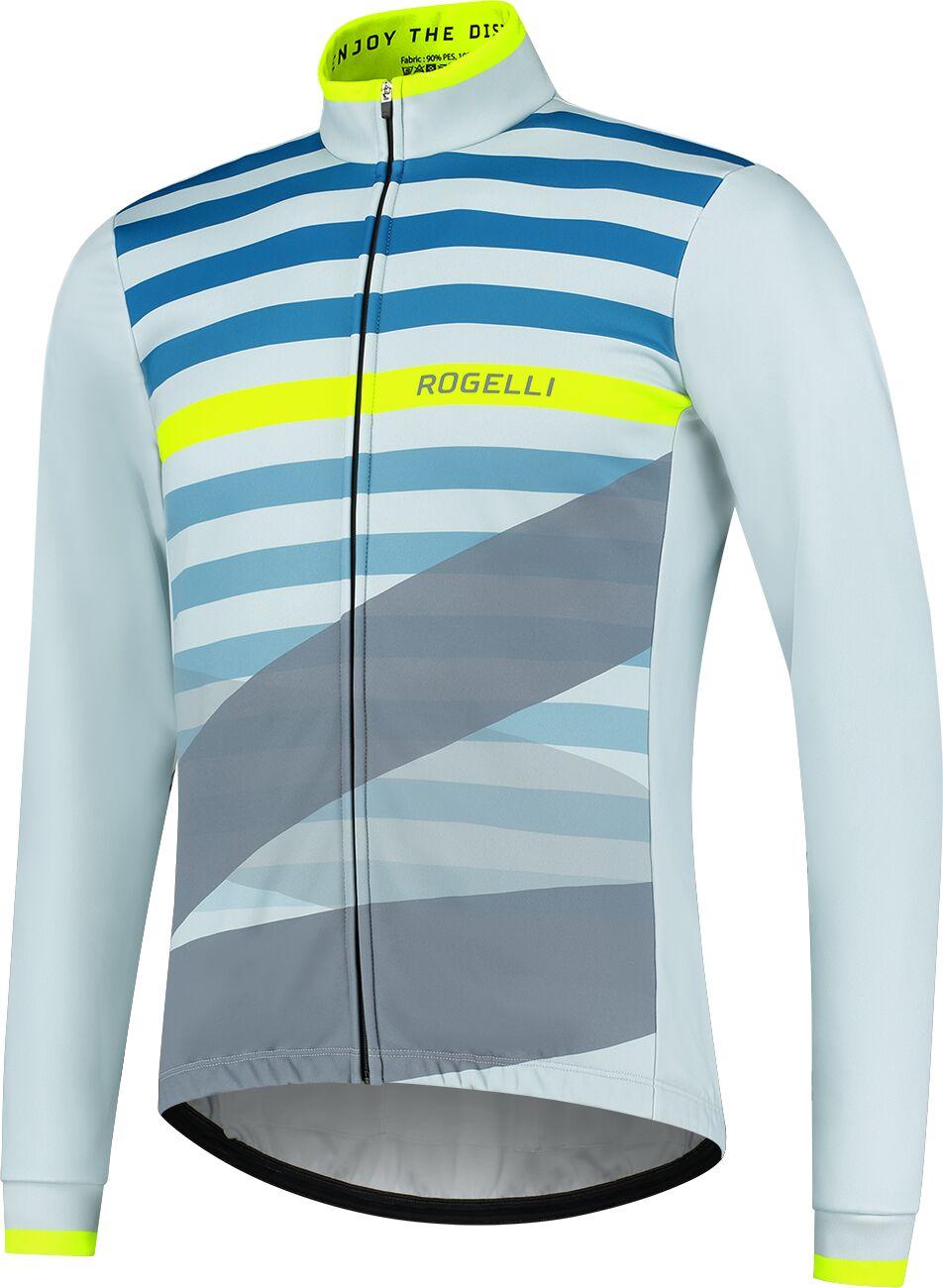 ROGELLI kurtka rowerowa zimowa STRIPE light blue ROG351040 Rozmiar: M,SROG351040.S