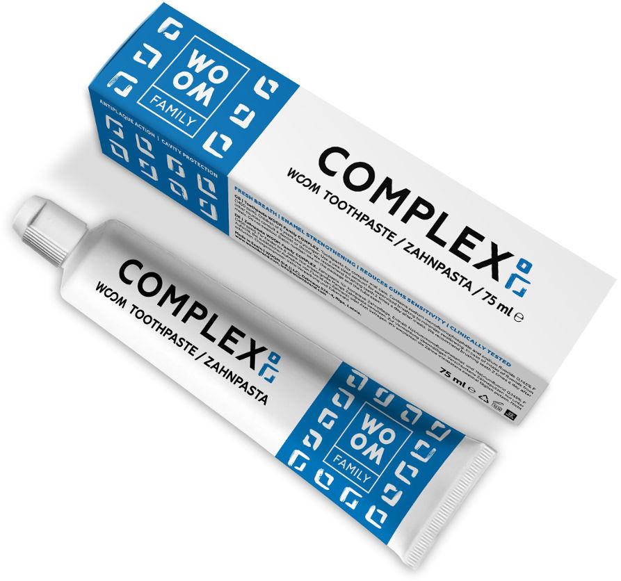 WOOM Family COMPLEX 75ml - pasta do zębów wrażliwych, kompleksowa pielęgnacja