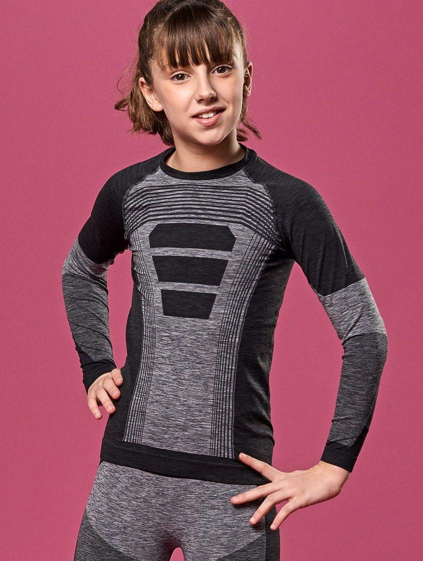 Dziecięca koszulka termoaktywna Slalom E5, z długim rękawem na zimę