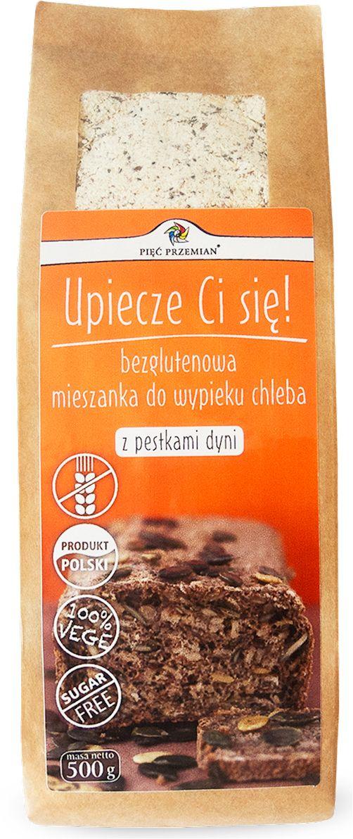 Mieszanka Chleba bezglutenowego z Pestkami Dyni 500g - Pięć Przemian