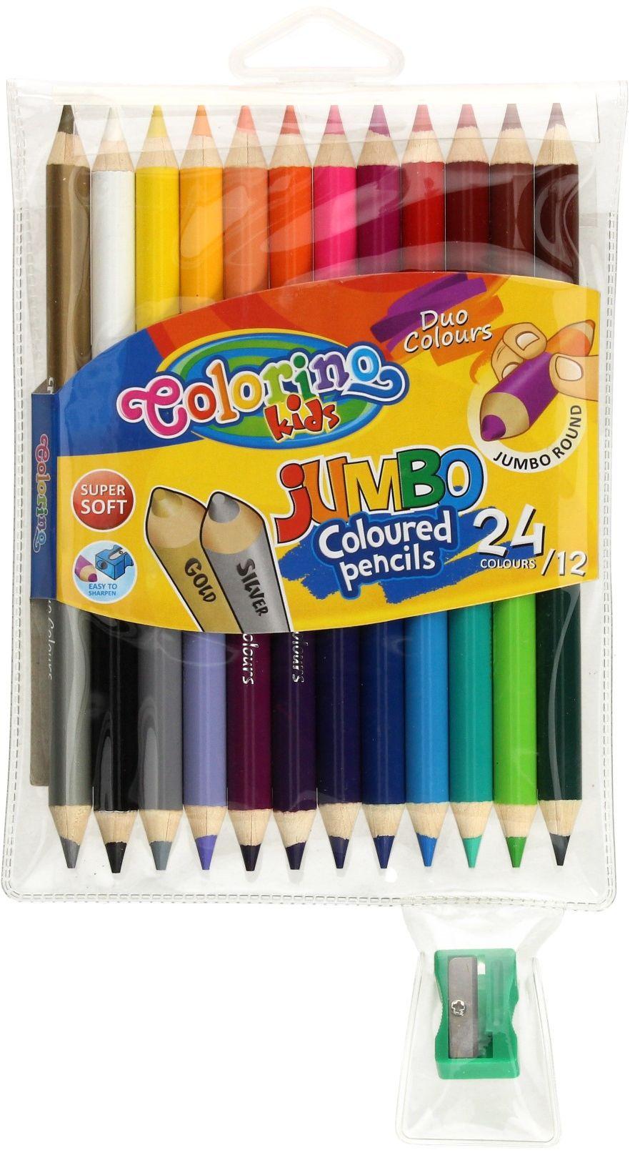Kredki ołówkowe 12/24 okrągłe Jumbo Colorino 51736PTR