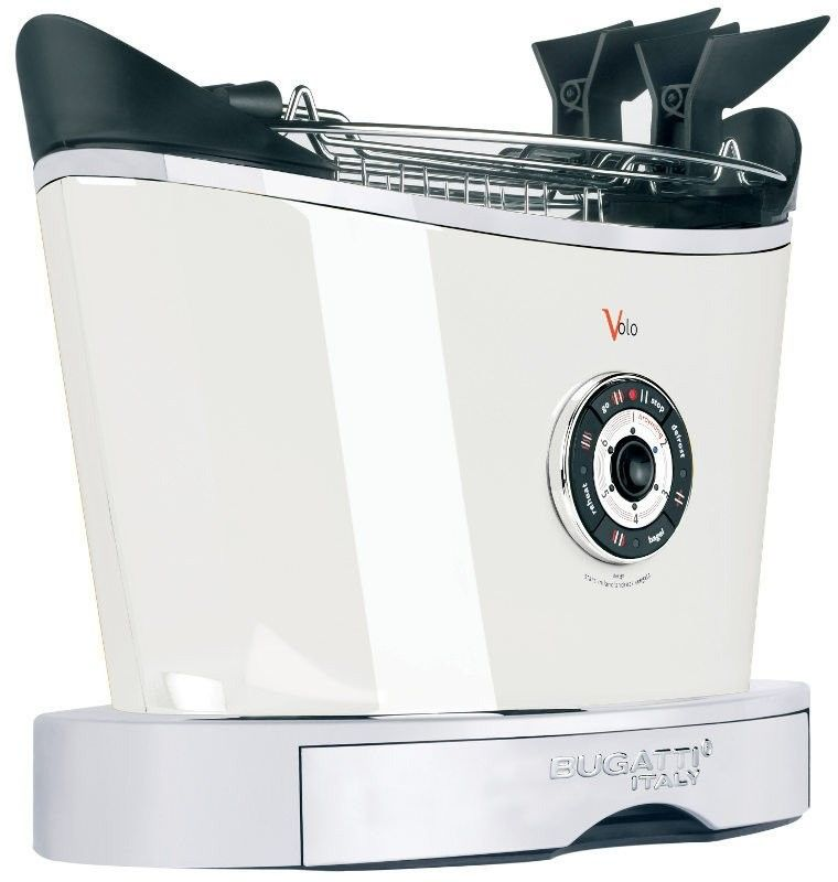 Casa bugatti - toster volo - biały - biały