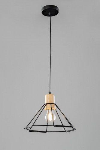 Lampa wisząca LOFT 1L P8660-1L Auhilon pojedyńcza oprawa świetlna w kolorze czarnym
