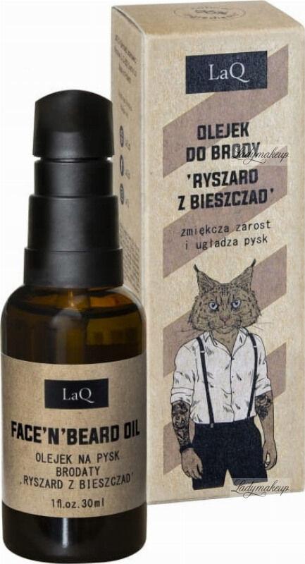 LaQ - FACE ''N'' BEARD OIL - Olejek po goleniu i do brody - Ryszard z Bieszczad - 30 ml