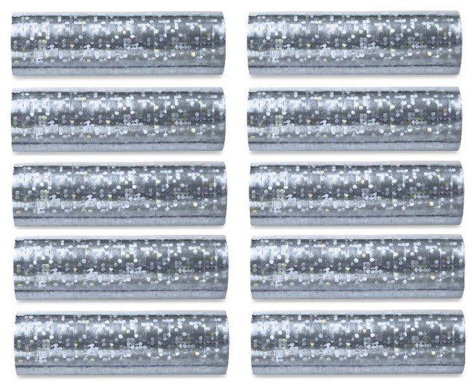 Serpentyny srebrne 10 sztuk SHN-018-10