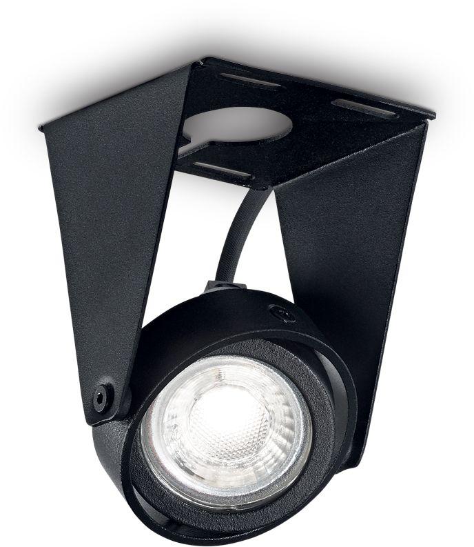 Plafon Channel Small 203133 Ideal Lux nowoczesna oprawa sufitowa w kolorze czarnym