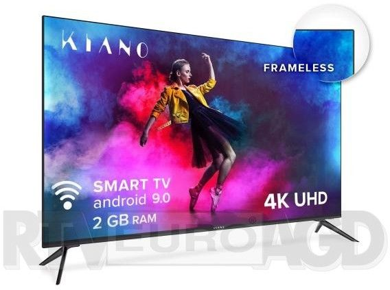 "Telewizor KIANO 50"" 4K UHD Smart TV Frameless HDR10 Android 9.0 TV002-1 SmartTV Metalowy"