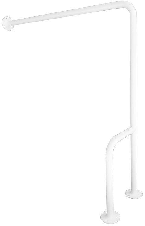 Uchwyt dla niepełnosprawnych mocowany do podłogi i ściany prawy fi 25 70 cm Faneco stal biała