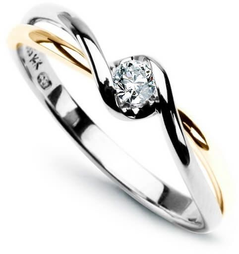 Złoty pierścionek - Diament