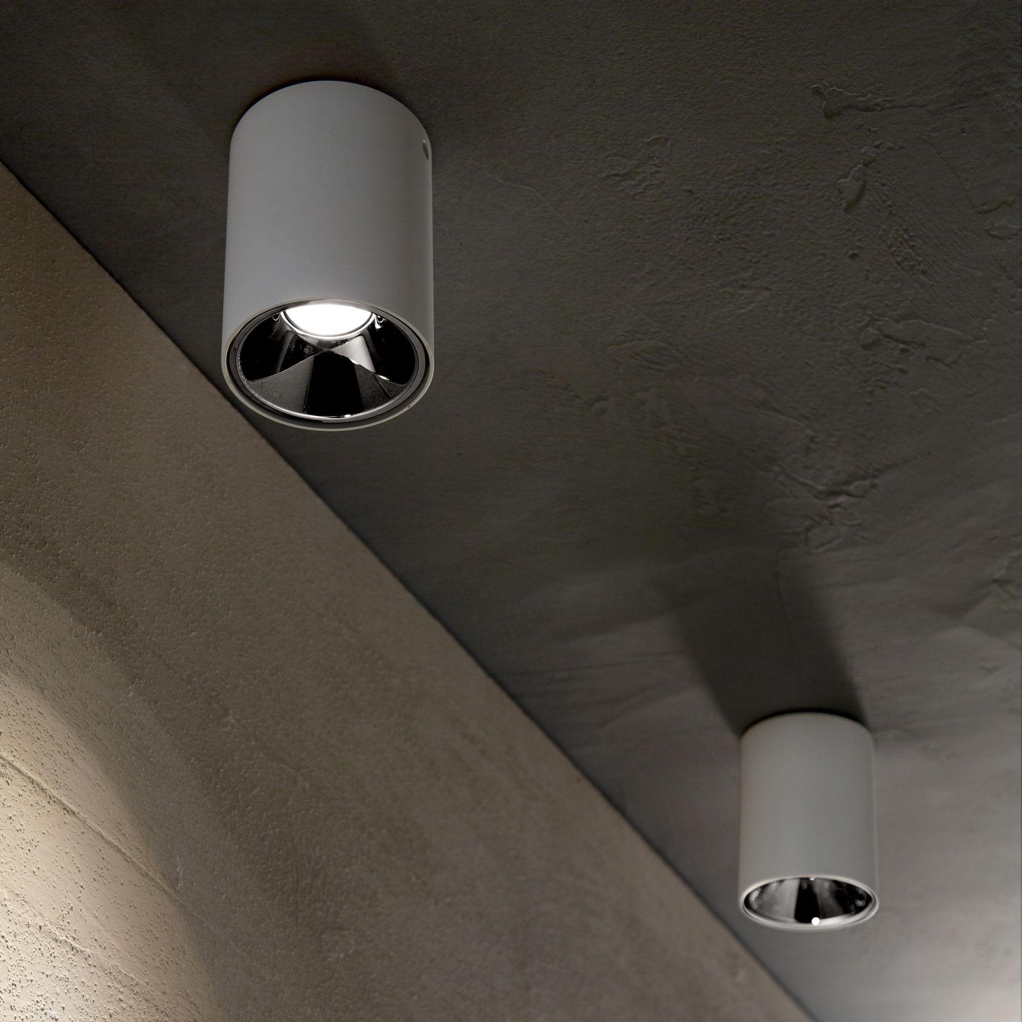 Plafon Nitro 10W Round 205991 Ideal Lux nowoczesna oprawa sufitowa w kolorze białym